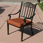 Patio Furniture Chair Dining Cast Aluminum (Set/2) Charleston