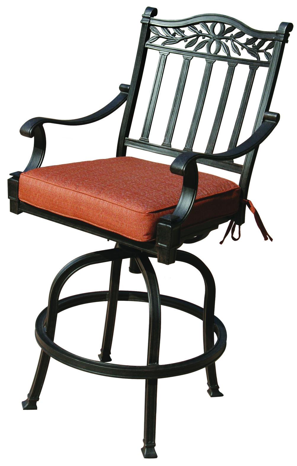 Patio Furniture Cast Aluminum Pub Chair Charleston