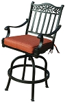 Patio Furniture Cast Aluminum Pub Chair Charleston