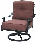 Patio Furniture Cast Aluminum Deep Seating Rocker Swivel Club Chair Charleston
