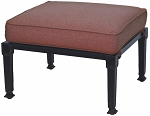 Patio Furniture Deep Seating Ottoman Cast Aluminum Charleston