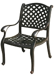 Patio Furniture Chair Dining Cast Aluminum (Set/2) Nassau