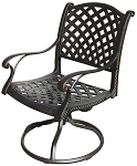 Patio Furniture Rocker Swivel Cast Aluminum (Set/2) Nassau