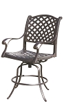 Patio Furniture Cast Aluminum Counter Stool Swivel Nassau