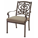 Patio Furniture Chair Dining Cast Aluminum (Set/2) Santa Barbara