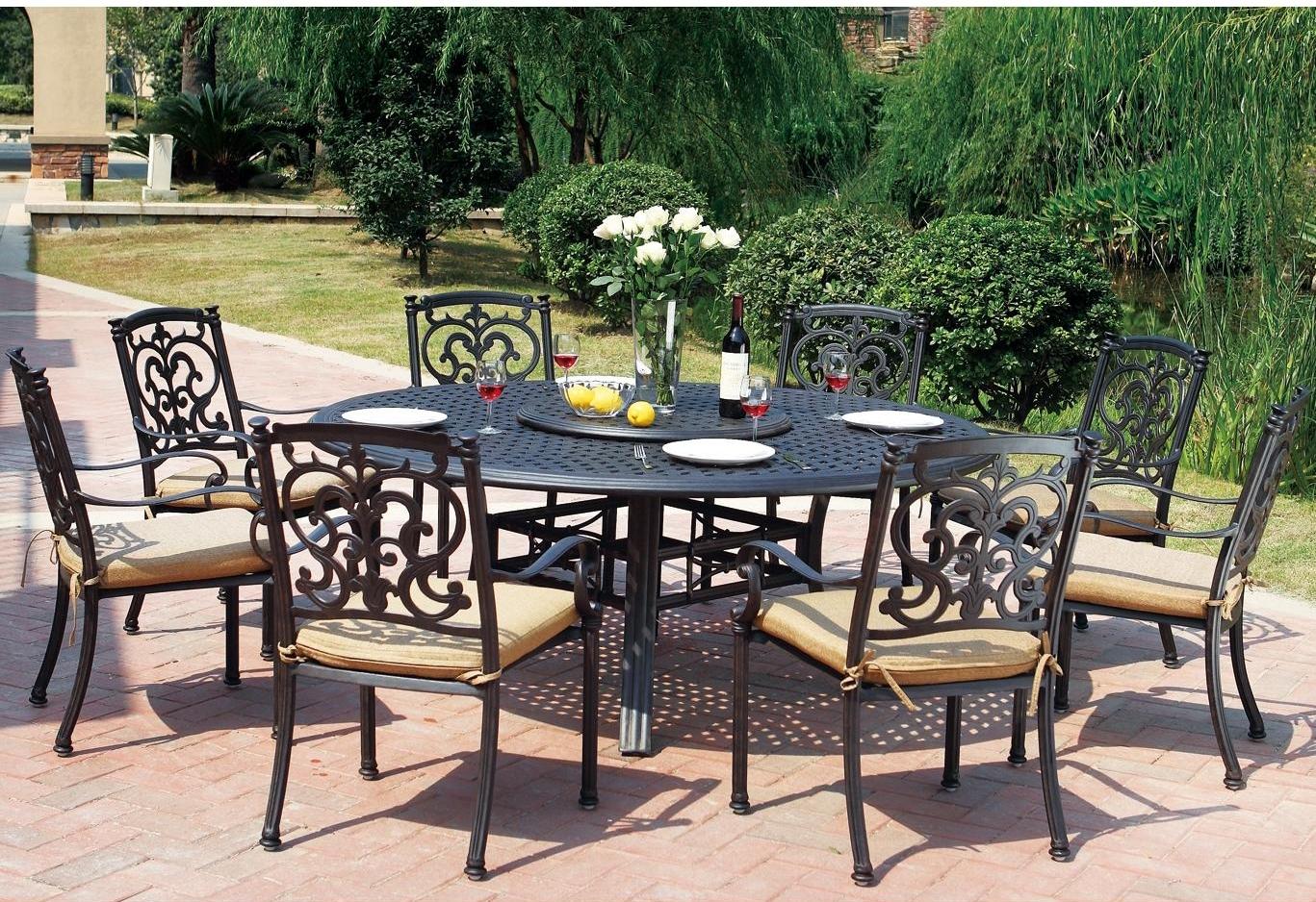 Quick View & Patio Furniture Dining Set Cast Aluminum 71