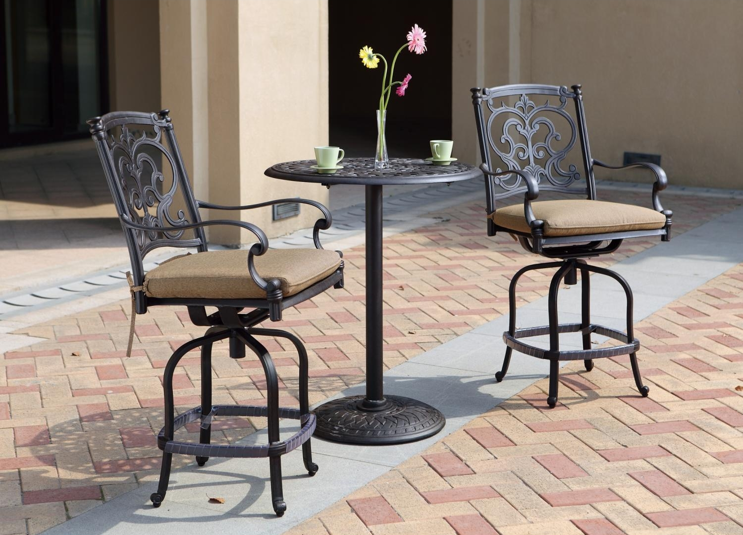 Patio Furniture Dining Set Cast Aluminum 30 Quot Round
