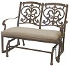 Patio Furniture Glider Bench Cast Aluminum Santa Barbara