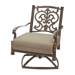 Patio Furniture Deep Seating Rocker Club Cast Aluminum Swivel Chair Santa Barbara