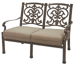 Patio Furniture Deep Seating Loveseat Cast Aluminum Santa Barbara