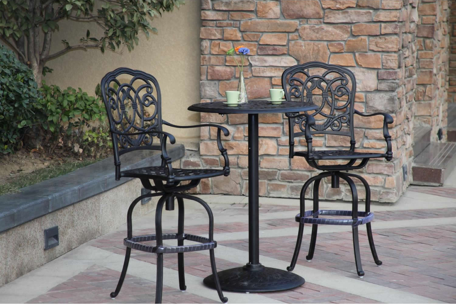 Patio Furniture Bistro Set Cast Aluminum 30 Quot Round