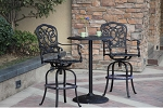 Patio Furniture Bistro Set Cast Aluminum 30