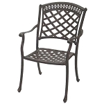 Patio Furniture Chair Dining Cast Aluminum (Set/2) Sedona