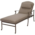 Patio Furniture Chaise Lounge Cast Aluminum Sedona