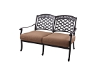 Patio Furniture Deep Seating Loveseat Cast Aluminum Sedona