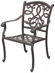 Patio Furniture Chair Dining Cast Aluminum (Set/2) Santa Monica