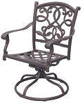 Patio Furniture Rocker Swivel Cast Aluminum Chair (Set/2) Santa Monica