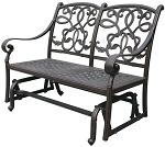 Patio Furniture Glider Bench Cast Aluminum Loveseat Santa Monica