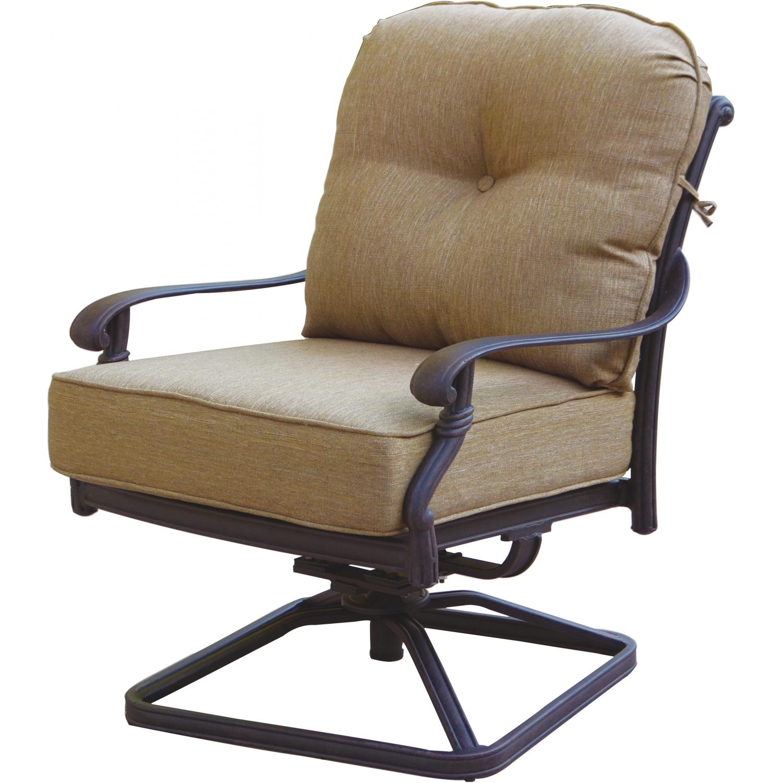 Patio Furniture Cast Aluminum Deep Seating Rocker Set ...