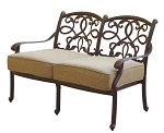 Patio Furniture Deep Seating Loveseat Cast Aluminum Santa Monica