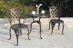 Patio Furniture Bistro Set Cast Aluminum San Marino