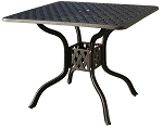 Patio Furniture Table Café Cast Aluminum 36