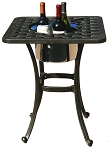 Patio Furniture Table End Cast Aluminum Square W/Ice Bucket Series 30