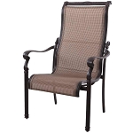 Patio Furniture Aluminum/Sling Chairs Dining High Back (Set/2) Monterey