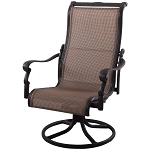 Patio Furniture Aluminum/Sling Rocker High Back Swivel Chairs (Set/2) Monterey
