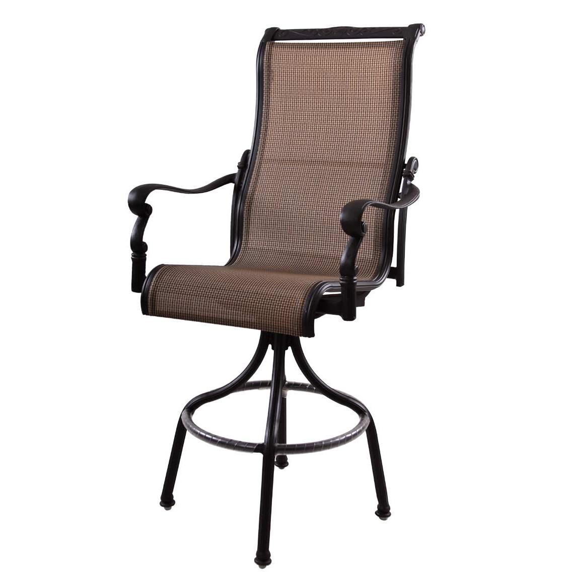 patio furniture aluminum sling pub chair high back swivel bar height monterey. Black Bedroom Furniture Sets. Home Design Ideas