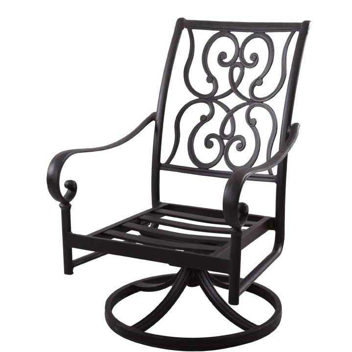 Rocker Swivel Cast Aluminum Chair Set