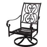 Patio Furniture Rocker Swivel Cast Aluminum Chair (Set/2) Santa Anita