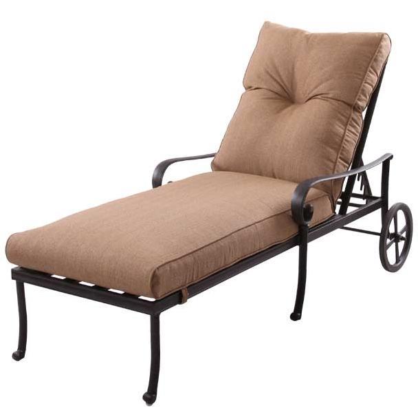 Patio Furniture Chaise Lounge Cast Aluminum Santa Anita