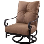 Patio Furniture Cast Aluminum Deep Seating Rocker Swivel Club Chair Santa Anita