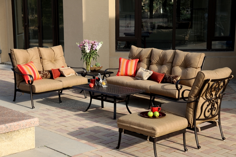Patio Furniture Deep Seating Sofa Cast Aluminum Santa Anita