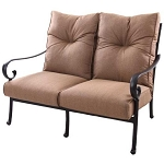 Patio Furniture Deep Seating Loveseat Cast Aluminum Santa Anita