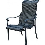 Wicker & Aluminum Dining Arm Chair