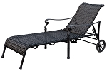 Patio Furniture Wicker Aluminum Chaise Lounge Victoria