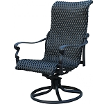 Patio Furniture Wicker Aluminum Rocker Swivel Chair (Set/2) Victoria