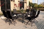 Patio Furniture Wicker Aluminum Dining Set 9pc Victoria