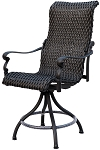 Patio Furniture Wicker Aluminum Counter Chair Swivel Victoria