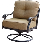 Patio Furniture Cast Aluminum Deep Seating Rocker Swivel Club Chair Nassau