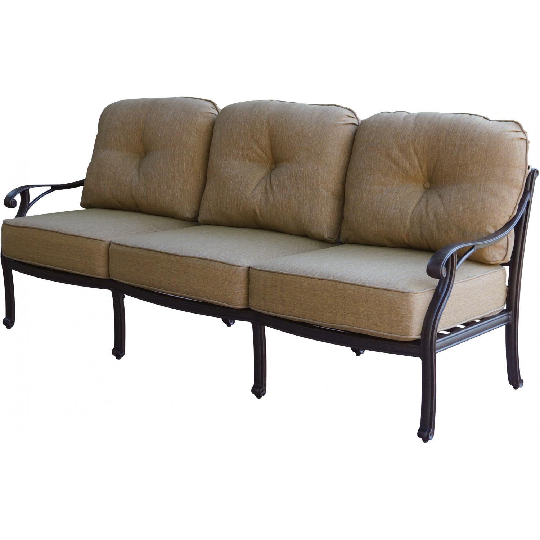Patio Furniture Deep Seating Sofa Cast Aluminum Nassau