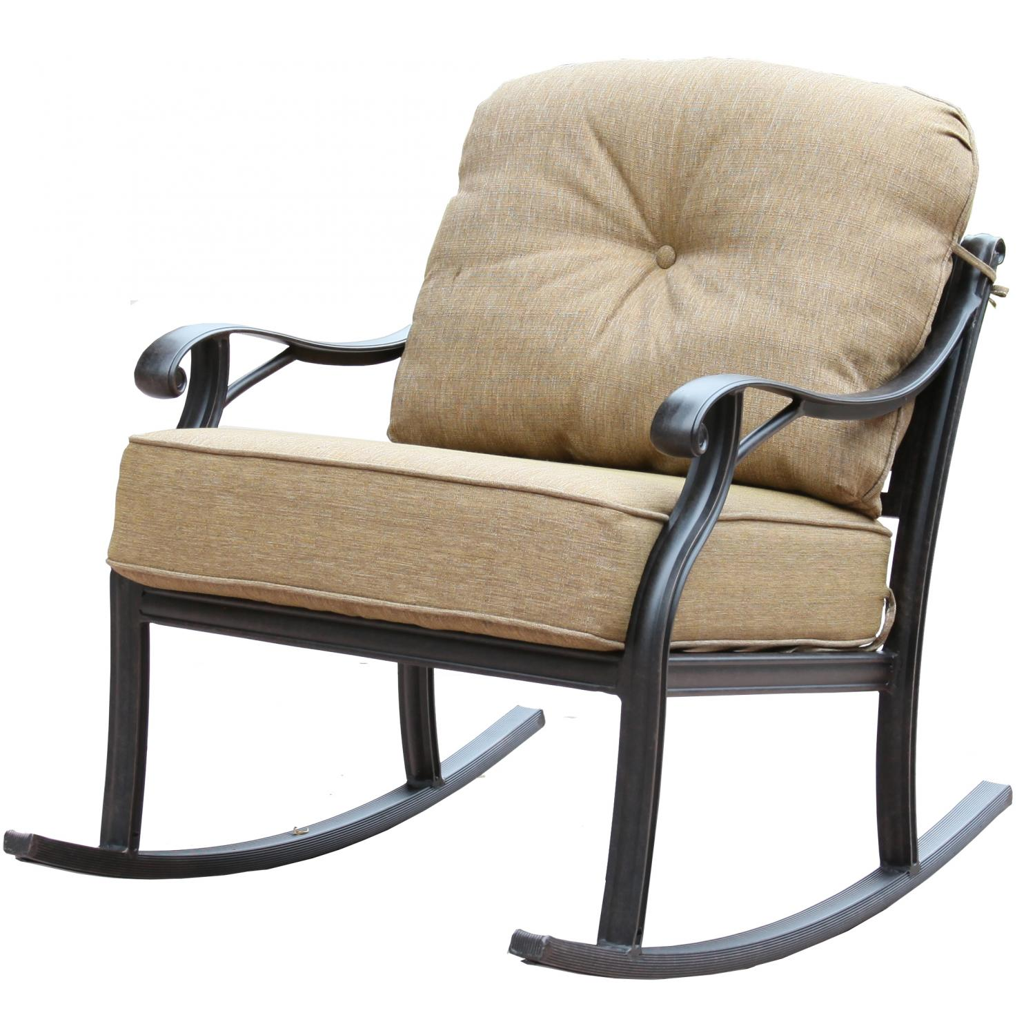 Patio Furniture Deep Seating Club Rocker Cast Aluminum