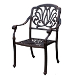 Patio Furniture Chair Dining Cast Aluminum (Set/2) Lisse