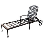 Patio Furniture Chaise Lounge Cast Aluminum Lisse