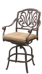 Patio Furniture Cast Aluminum Counter Stool Swivel Lisse