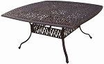 Patio Furniture Table Dining Cast Aluminum 64