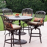 Patio Furniture Bar Set Cast Aluminum 42