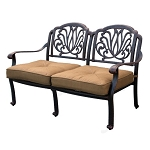 Patio Furniture Deep Seating Loveseat Cast Aluminum Lisse